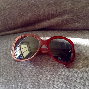 Burberry Oval Red Sunglasses
